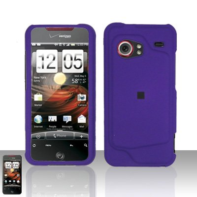 Htc Droid Incredible Rubber - Importer520 Rubberized Snap-On Hard Skin Protector Case Cover for For (Verizon) HTC Droid Incredible 6300 - Purple