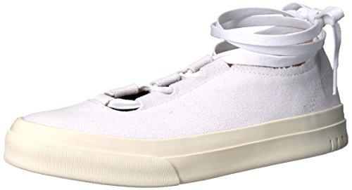 STEVEN by Steve Madden Women's Vipar Fashion Sneaker, White Fabric, 9 M US