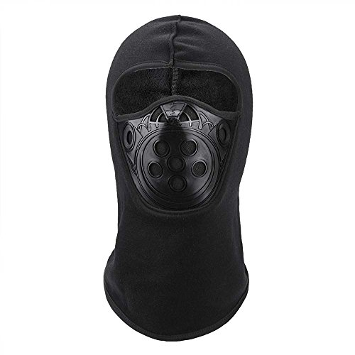 Balaclava Ski Mask Premium Full Face Ski Mask Motorcycle Neck Warmer or Winter Anti-Dust Balaclava Hood Hats (Black) (Angle Panels Right)