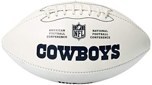 NFL Team Logo Autograph Football Dallas Cowboys]()