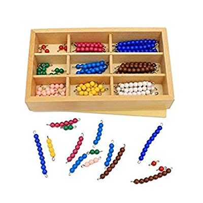 Danni Kid Toys Montessori Educational Wood Toys Colorful Checker Board Beads Math Toy Early Childhood Preschool Training: Toys & Games