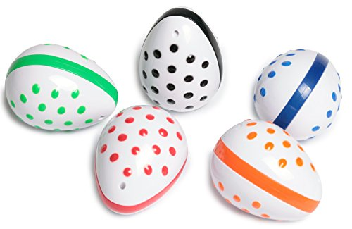 Edushape Musical Instruments Egg Shaker Set, Assorted