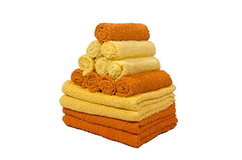 Skumar Love Touch Cotton Hand & Face Towel Set – Pack of 14