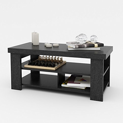 Black Ebony Ash Stylish Contemporary Design Rectangle Wooden Living Room Furniture Coffee Table