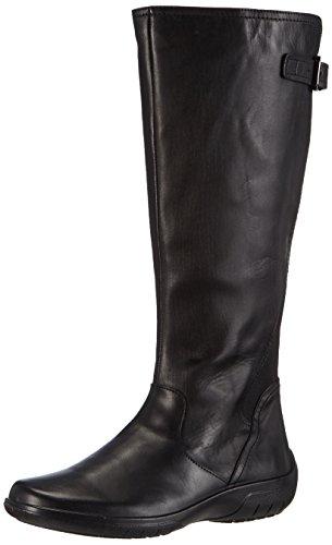 Scholl Viliana Black, Women's Unlined Classic Boots Long Length Black - Black