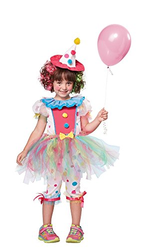 California Costumes Rainbow Clown Costume, One Color, 4-6 -