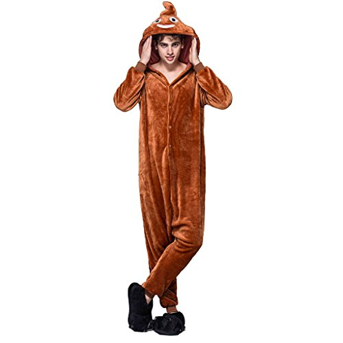 Funny Poo Pajamas Onesies Costume for Men X-large (Funny Onesie Adults)