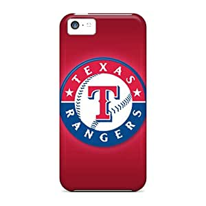 Great Hard Phone Cover For Iphone 5c With Custom High-definition Texas Rangers Pattern DrawsBriscoe