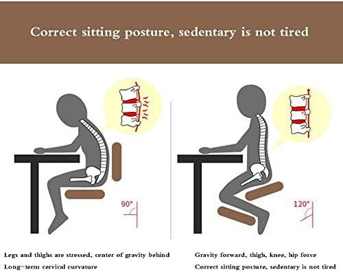 Fikujap Conçu ergonomiquement Chaise de Genou, avec roulettes, Mousse à mémoire épais Pad, pour la Maison Chaise de Bureau