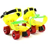 Aurion RS Adjustable Plastic Roller Skates_Assorted Colors