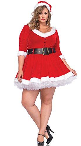 3x Plus Size Costumes (Leg Avenue Women's Plus-Size Miss Santa, Red, 3X/4X)