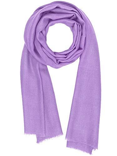 Cashmere Feel Wool Silk Blend Scarf Pashmina Women's Men's Shawl Lupine