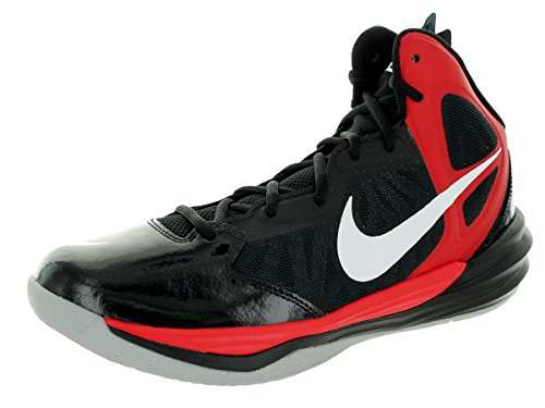 Nike Heren Prime Hype Df Basketbalschoen Zwart / Universiteit Rood / Antraciet / Wit