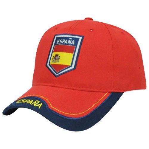 Rhinox Spain Espana Flag Curved Bill Soccer Futbol Gorra Hat Cap Sun Buckle Red