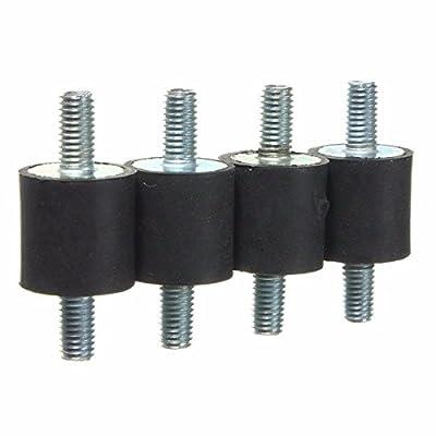 4pcs M5 Rubber Mounts 15x15mm Rubber Vibration Isolator Mounts Rubber Shock Abso