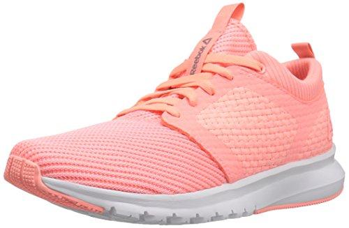 Reebok Women's Print Athlux Weave Track Shoe, Whisper Grey/Sour Melon/Pewter, 9 M (Reebok Gym Equipment)