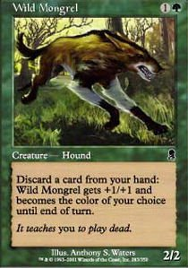 Magic: the Gathering - Wild Mongrel - Odyssey - (Gathering Odyssey Foil)