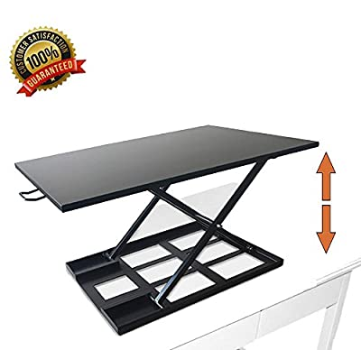 Best Buy Box Air Rise Standing Desk Workstation Converter | Height Adjustable Computer Monitor to Get Your Best Position in Home & Office?Black?