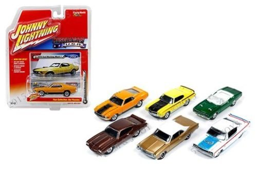 New 1:64 AUTO WORLD JOHNNY LIGHTNING COLLECTION - MUSCLE CARS U.S.A. - RELEASE A Diecast Model Car By Auto World Set of 6 ()