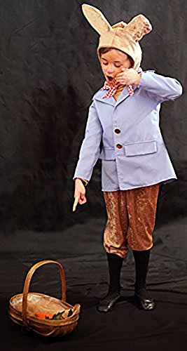[Easter-World Book Day-Unisex-Beatrix PETER RABBIT PALE BLUE COSTUME Child's Fancy Dress Costume – All Ages (AGE] (White Rabbit Dance Costumes)