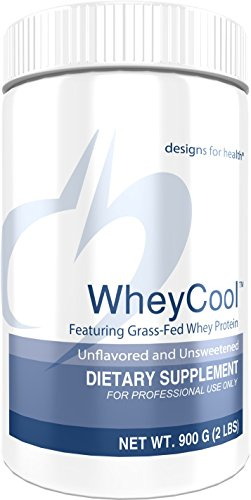 Designs for Health Unflavored Unsweetened Grass Fed Protein Powder – Whey Cool, 23g of Whey Protein 2 lbs 30 Servings