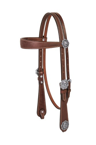 (Weaver Leather Basin Cowboy Browband Headstall)