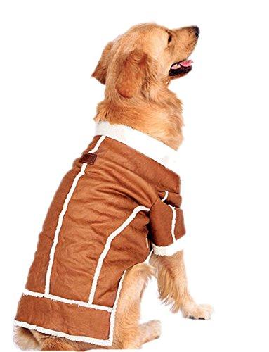 Berber Dog Coat - Honeystore Berber Fleece Material Design Pet Costume Cotton-padded Clothes Winter Big Dog Coats for Akita 4X-Large