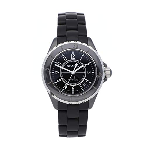 Chanel Watch Ceramic Black - Chanel J12 Mechanical (Automatic) Black Dial Mens Watch H0685 (Certified Pre-Owned)