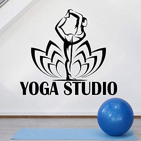 Vinilo Tatuajes de Pared Yoga Studio Logo Tatuajes de Pared ...