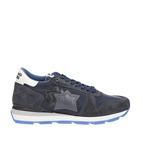 Atlantic Stars Sirius AN-76N Sneakers Uomo Hand-Made in Italy New Bomber H Navy - 404 - Davis E7243 New Bomber Navy Blue