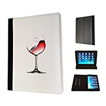 401 - Drink Glass Wine Drink Design Fashion Trend TPU Leather Flip Case For Apple iPad Air 2 2014 Full Case Flip TPU Leather Purse Pouch Defender Stand Cover