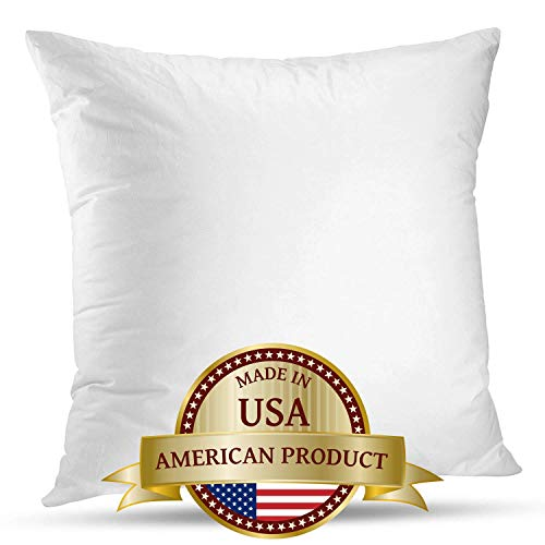 LuxyFluff - Down Synthetic, Square Decorative Throw Pillow Insert, Sham Stuffer 24