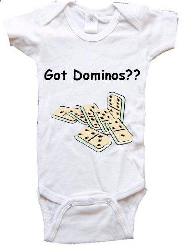GOT DOMINOS - BigBoyMusic Baby Designs - White Baby One Piece Bodysuit - size Newborn (0-6M) - Newborn Dominos