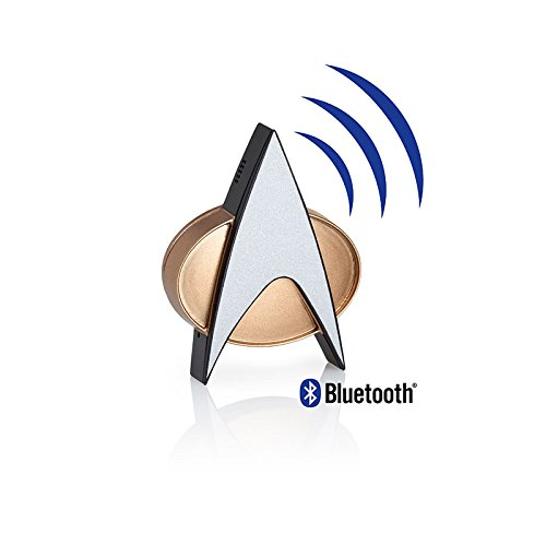 Star Trek TNG Bluetooth Communicator Badge with Chirp Sou...