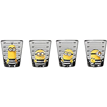 amazon com silver buffalo dm031sg2 despicable me minion mini glass