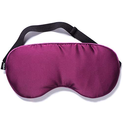 Unimi Sleep Eye Mask Moist Heated Eye Mask, Silk Eye Shade with Lavender & Flaxseed, Microwaveable Weighted Sleep Mask…