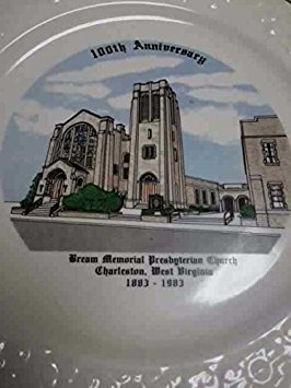 Collectible Plate: 100th Anniversary of Bream Memorial Presbyterian Church, Charleston, West Virginia 1883-1983