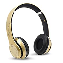 Ouguan Wireless S460 On-ear Stereo Bluetooth Headset Headphone Wireless Earphone for Cell Phone (Gold)
