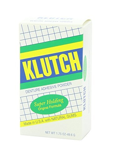 Klutch Denture Adhesive Powder - 1.75 Oz(Pack of 6) (Adhesive Klutch Denture)