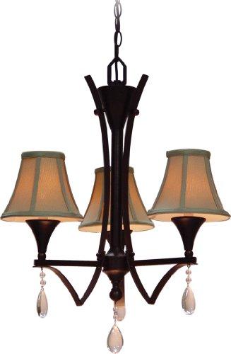 - Volume Lighting V3263-27 Corinth 3 light Florence bronze chandelier, 22