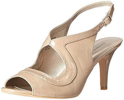 Bandolino Women's Mentora Dress Sandal, Natural Synthetic, 7.5 M US