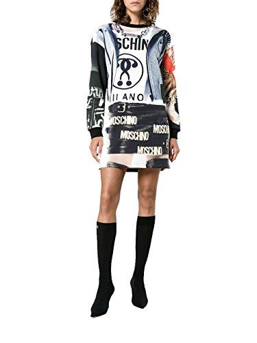 Kleid J040954271888 Schwarz Baumwolle Damen Moschino zBvq8gg