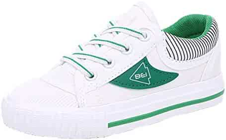 6cb049726848ee iDuoDuo Boys Girls Fashion Stripes Lace up Anti Slip School Tennis Shoes  (Toddler Little