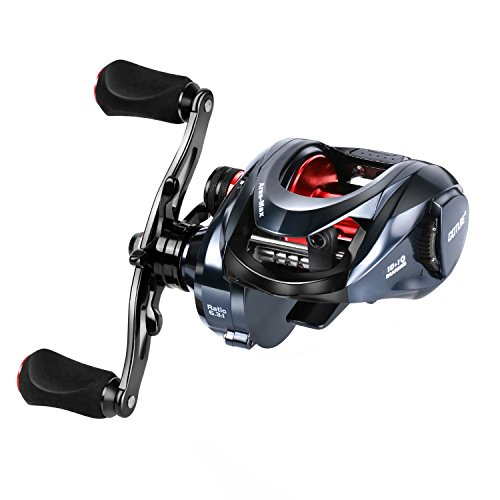 Goture Ares-Max Baitcasting Fishing Reel 22LB Carbon Fiber Drag, 6.3:1 Low Profile Baitcaster Reel with Magnetic Brake System10+1 Shielded Bearings Saltwater Freshwater Fishing Heavy Duty for Big Game (Best Spinning Reel)