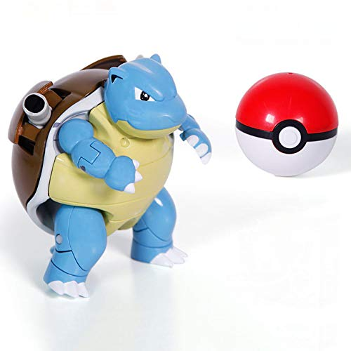 Pokemon Poke Ball Transformation Action Figures 6 Styles Pokeball Set Toys Capsule Doll Game Ball go (Brown) ()