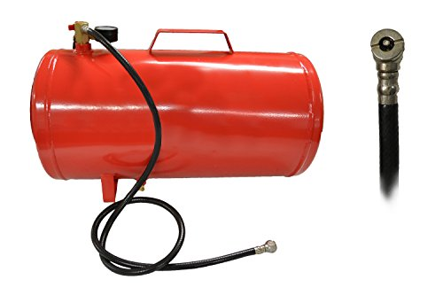 Portable Air Compressor Tank with Gauge (9 Gallon)
