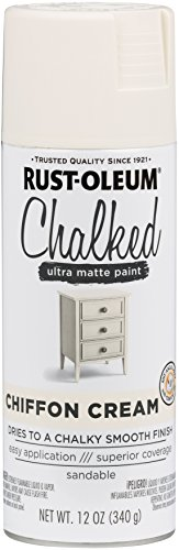 Rust-Oleum 302596 Chalked Spray Paint, 12 oz, Chiffon Cream/Off White ()