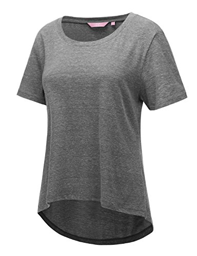 Regna X Women's Grey U-neck super soft fitted 3 4 Sleeve Tshirt (Definition Fitted T-shirt)