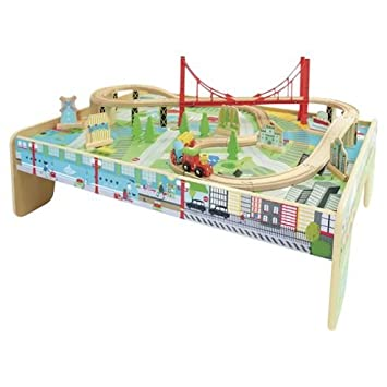 New Carousel Train Table Play Set Amazoncouk Toys Games