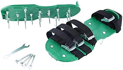 Kamenda - Aireador de césped, zapatos antideslizantes, sólidos y duraderos, zapatillas con tacos de jardín